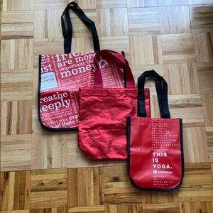 Reusable Lululemon and Athleta Bags - set of 3
